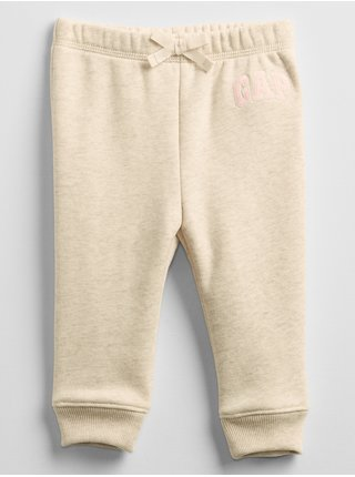 Baby tepláky GAP Logo pull-on pants Béžová