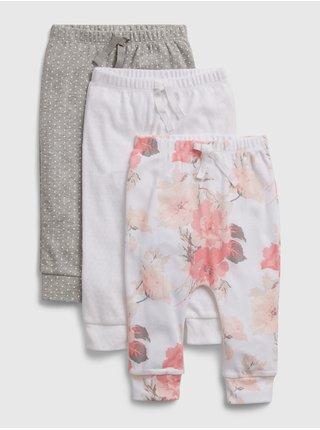 Baby tepláky floral pull-on pants, 3ks Farebná