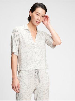 Bílá dámská košile na spaní truesleep button-front top in modal