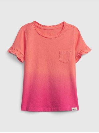 Detské tričko ruffle Ružová