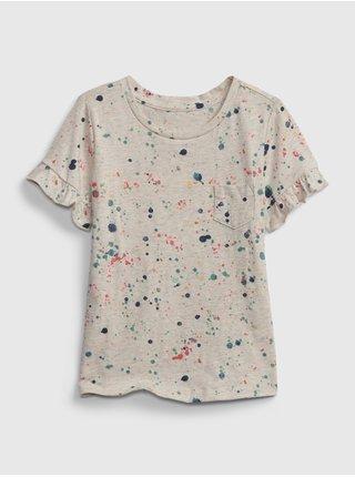 Šedé holčičí dětké tričko ruffle