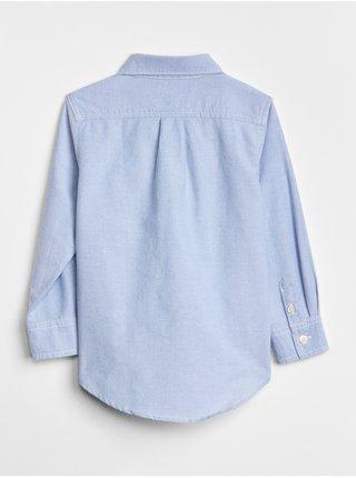 Modrá klučičí dětská košile oxford button-down