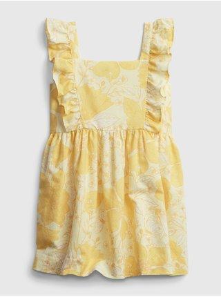Detské šaty floral apron dress Žltá