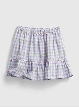 Detská sukňa gingham pull-on skirt Modrá