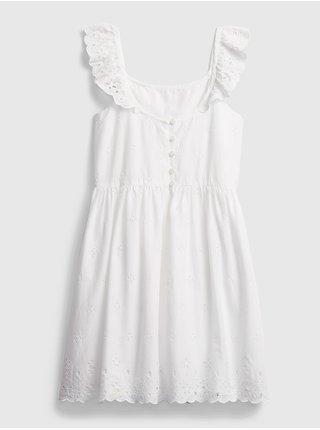 Detské šaty eyelet dress Biela