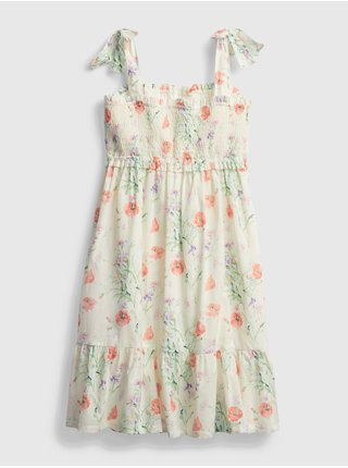 Detské šaty smocked floral dress Béžová