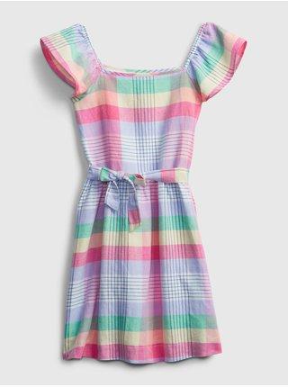 Detské šaty plaid dress Farebná