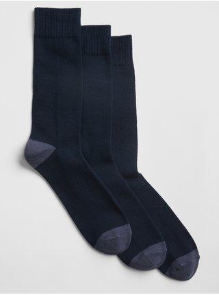 Modré pánské ponožky crew socks, 3 páry
