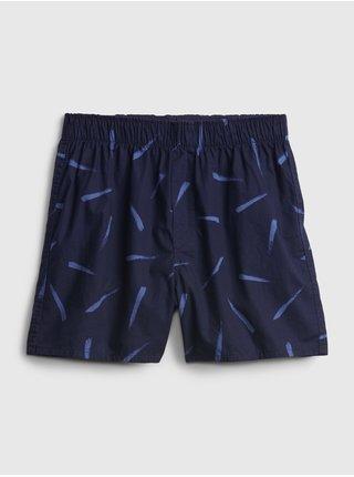Trenirky print boxers Modrá