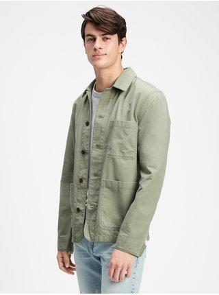 Zelená pánská bunda v-chore jacket