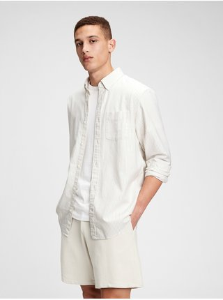 Košeľa lived-in stretch oxford shirt Biela