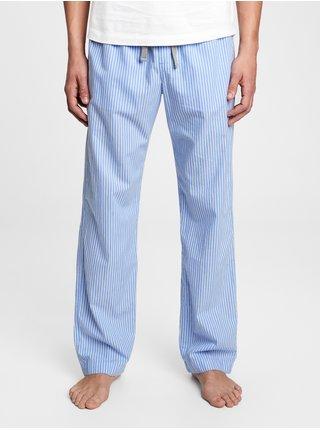 Pyžamové nohavice pajama pants in poplin Modrá
