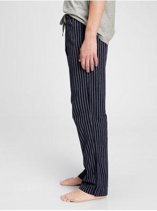 Pyžamové nohavice pajama pants in poplin Čierna