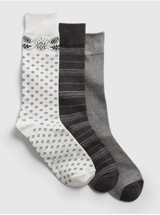 Ponožky crew socks, 3 páry Farebná