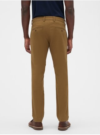 Nohavice essential khakis in skinny fit with GapFlex Hnedá