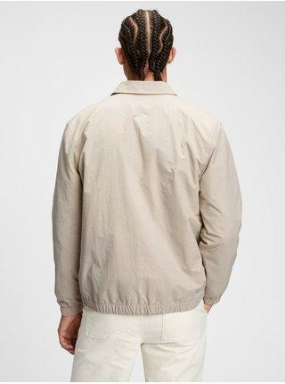 Bunda nylon coach jacket Béžová