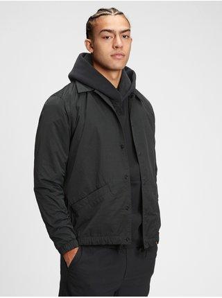 Černá pánská bunda nylon coaches