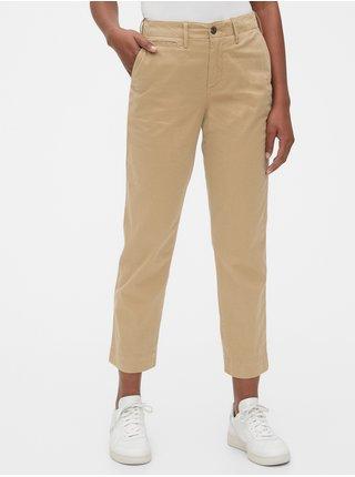 Béžové dámské kalhoty straight khakis
