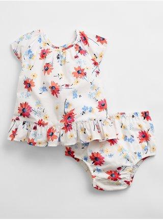 Baby body floral ruffle set Farebná