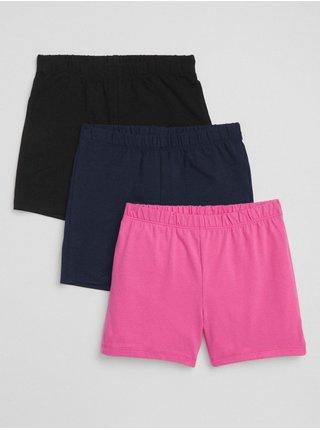Detské kraťasy cartwheel shorts in stretch jersey, 3ks Farebná