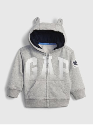 Baby mikina GAP Logo bear hoodie Šedá