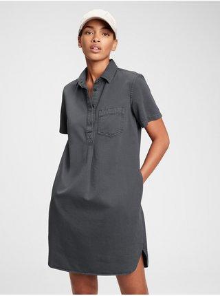 Šedé dámské šaty popover dress