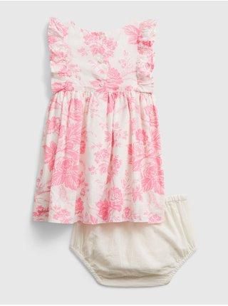 Barevné holčičí baby šaty pink flrl drs