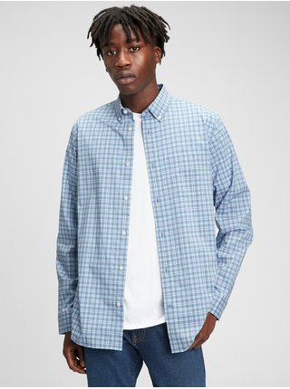Modrá pánská košile performance poplin shirt