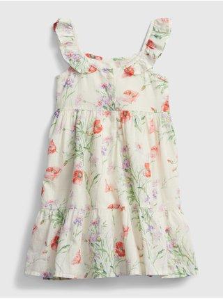 Detské šaty floral dress Béžová