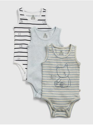 Barevné baby body olx tnk bs lt blue heather 12-18m, 3ks