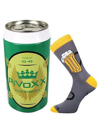 Ponožky VoXX šedé (PiVoXX + plechovka)
