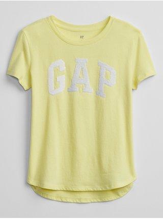 Žluté holčičí dětské tričko GAP Logo v-mar flp grph