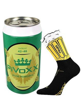 Ponožky VoXX černé (PiVoXX + plechovka)