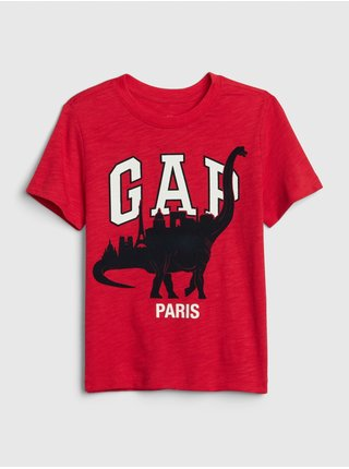 Detské tričko GAP Logo dino Červená