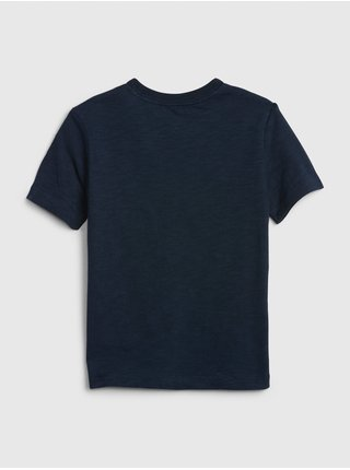 Detské tričko GAP Logo dino Modrá