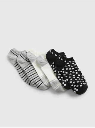 Černé dámské ponožky fashion ankle socks, 3 páry