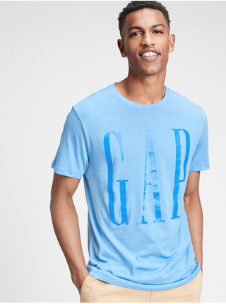 Tričko GAP Logo crewneck t-shirt Modrá