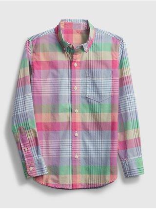 Barevná klučičí dětská košile ls ppln yd