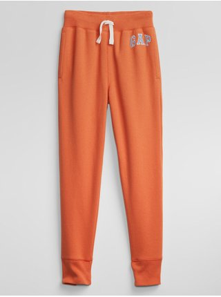 Detské tepláky GAP Logo pull-on pants Oranžová