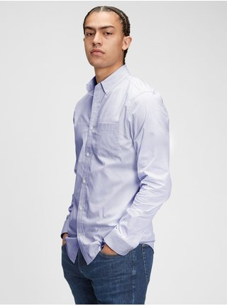 Košeľa performance poplin shirt in slim fit Modrá