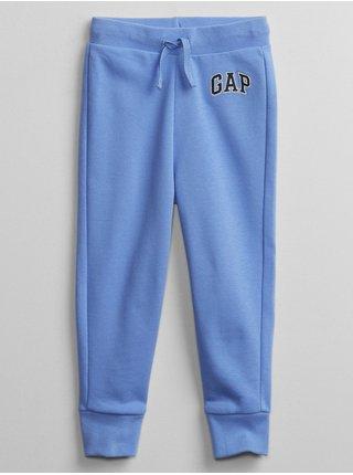 Modré klučičí dětské tepláky GAP Logo v-ft sld jg