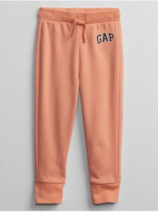 Oranžové klučičí dětské tepláky GAP Logo v-ft sld jg