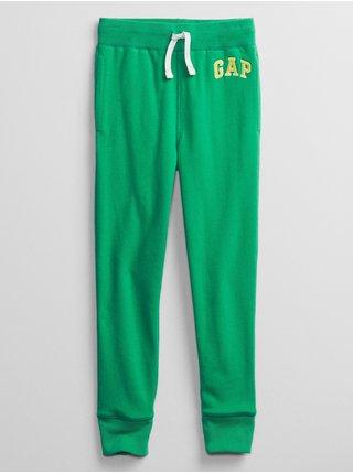 Detské tepláky GAP Logo pull-on pants Zelená