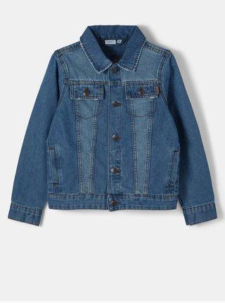 Modrá chlapčenská rifľová bunda name it
