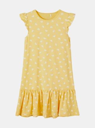 Žluté holčičí vzorované šaty name it Vida