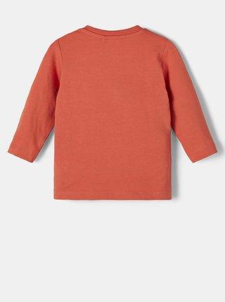 Oranžové dievčenské tričko s potlačou name it Daniella