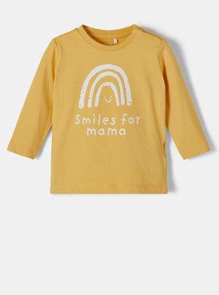 Žluté holčičí tričko s potiskem name it Daniella