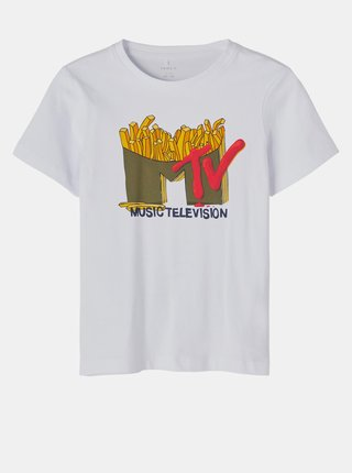 Bílé klučičí tričko s potiskem name it MTV