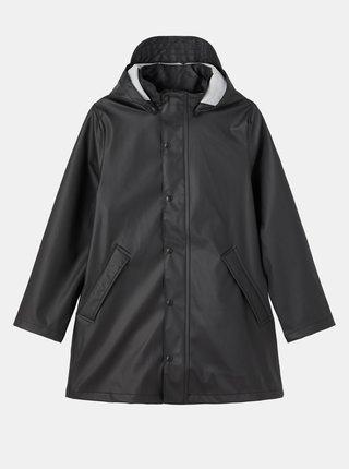 Černá dětská dlouhá bunda s odepínací kapucí name it
