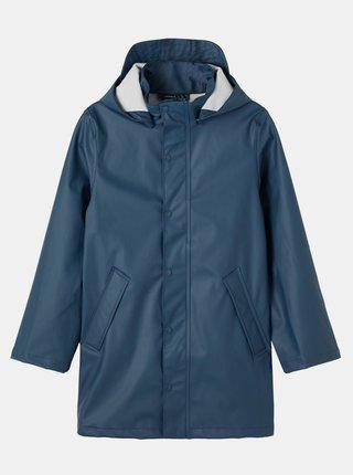 Modrá dětská dlouhá bunda s odepínací kapucí name it